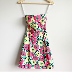 Lilly Pulitzer Strapless Mini Dress Floral Size 00